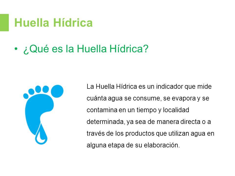 Huella Hídrica ¿Qué es la Huella Hídrica