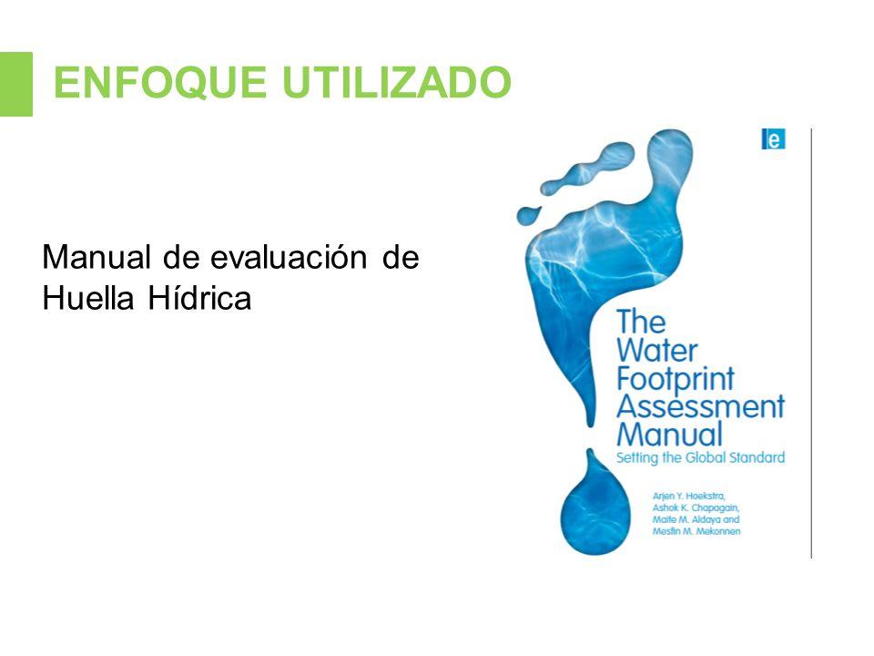 ENFOQUE UTILIZADO Manual de evaluación de Huella Hídrica
