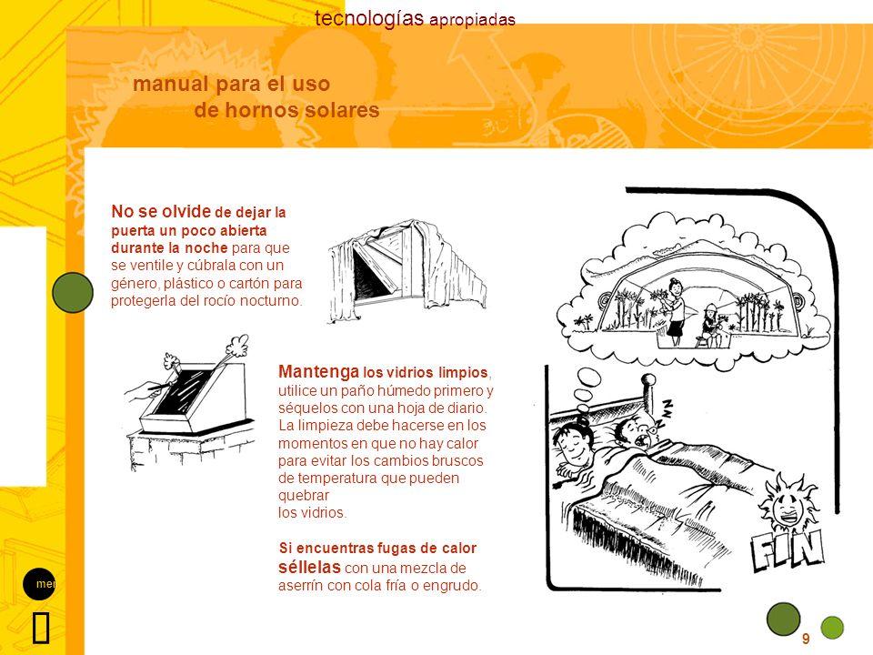 Ü tecnologías apropiadas manual para el uso de hornos solares