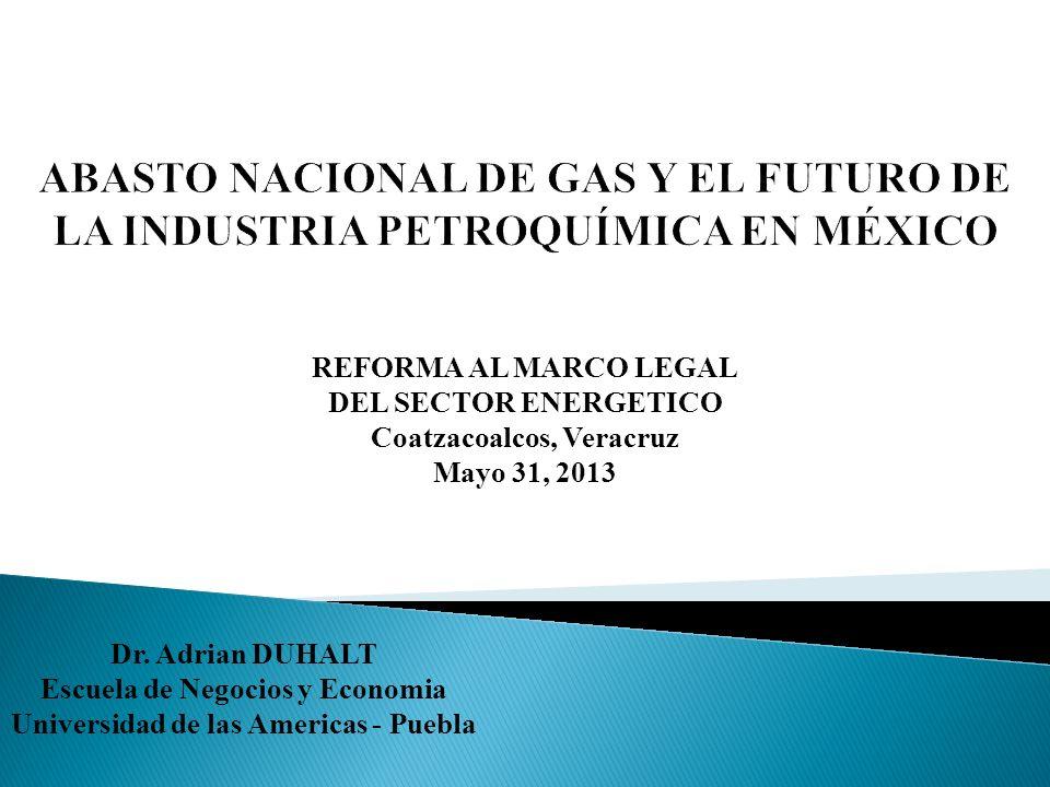 ABASTO NACIONAL DE GAS Y EL FUTURO DE LA INDUSTRIA PETROQUÍMICA EN MÉXICO