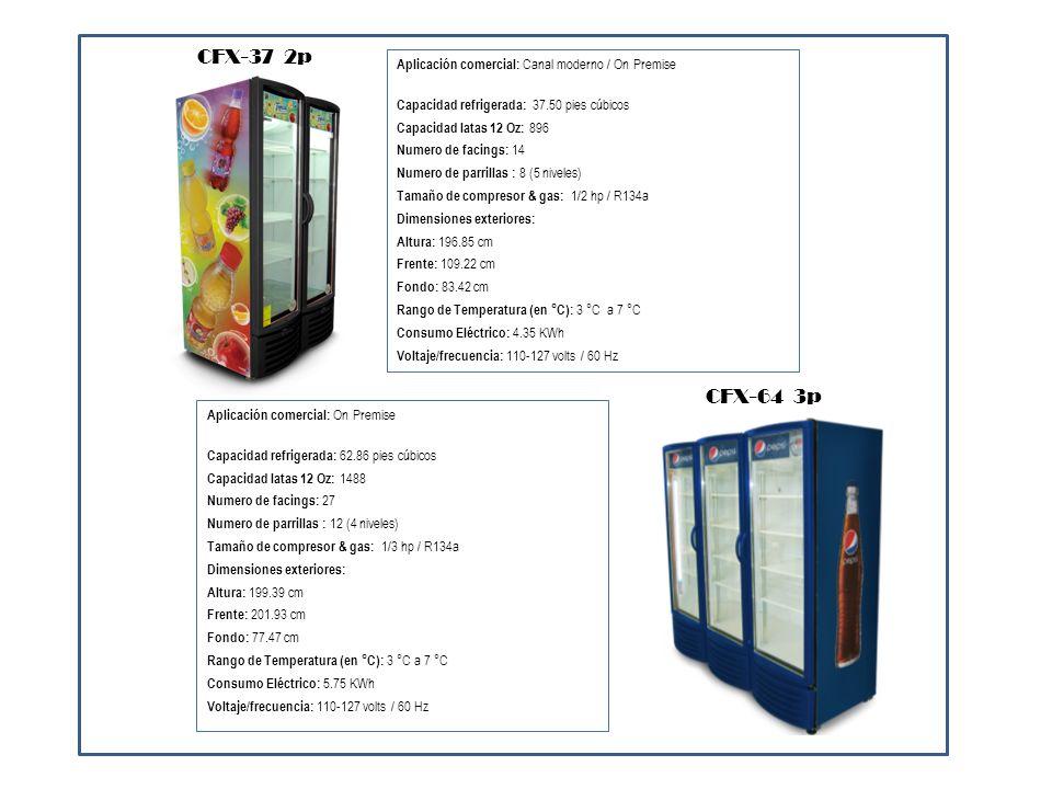 CFX-37 2p CFX-64 3p Aplicación comercial: Canal moderno / On Premise