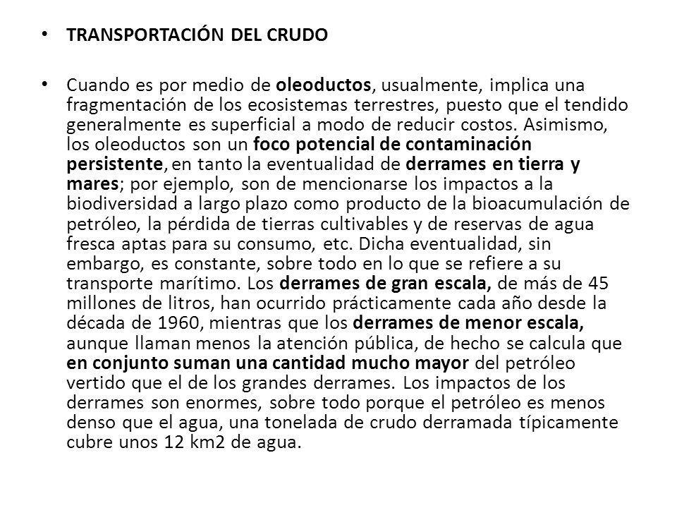 TRANSPORTACIÓN DEL CRUDO