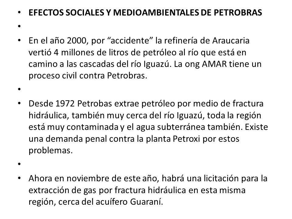 EFECTOS SOCIALES Y MEDIOAMBIENTALES DE PETROBRAS