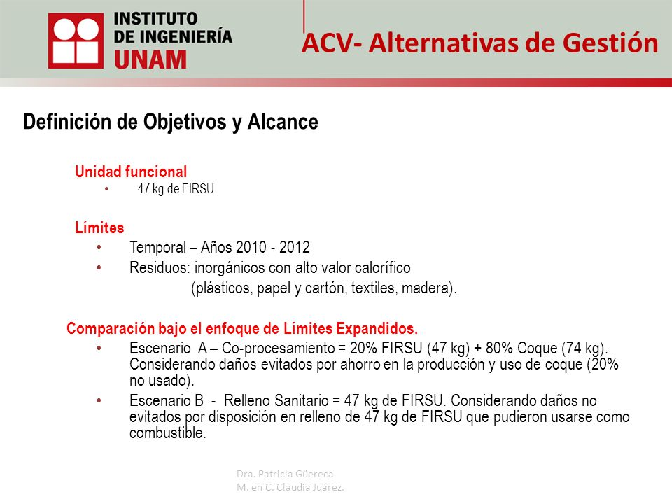 ACV- Alternativas de Gestión
