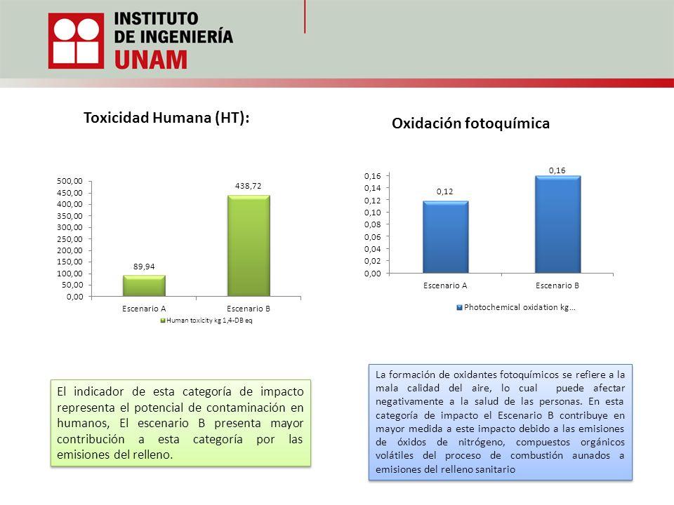 Toxicidad Humana (HT): Oxidación fotoquímica