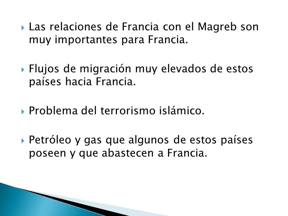 Las relaciones de Francia con el Magreb son muy importantes para Francia.