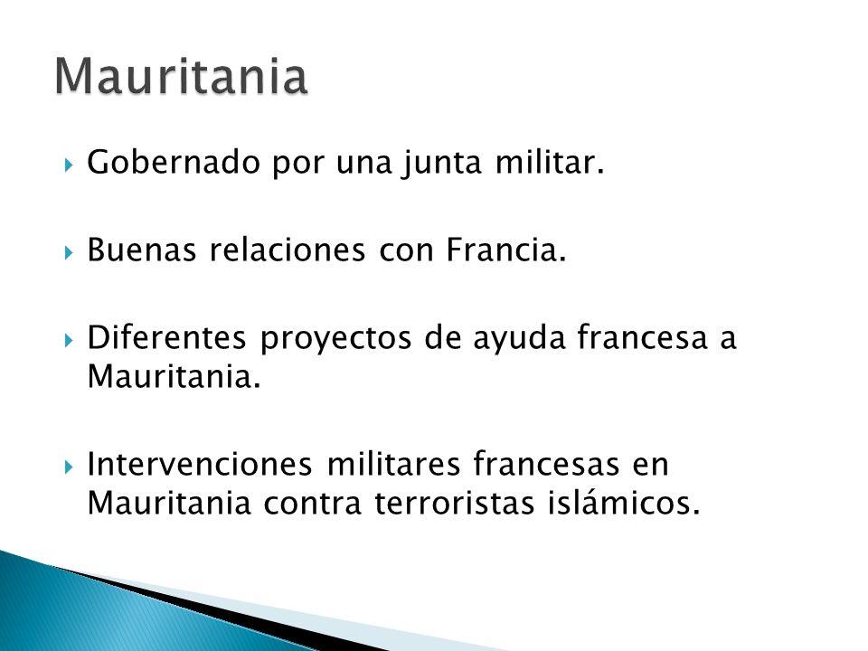 Mauritania Gobernado por una junta militar.