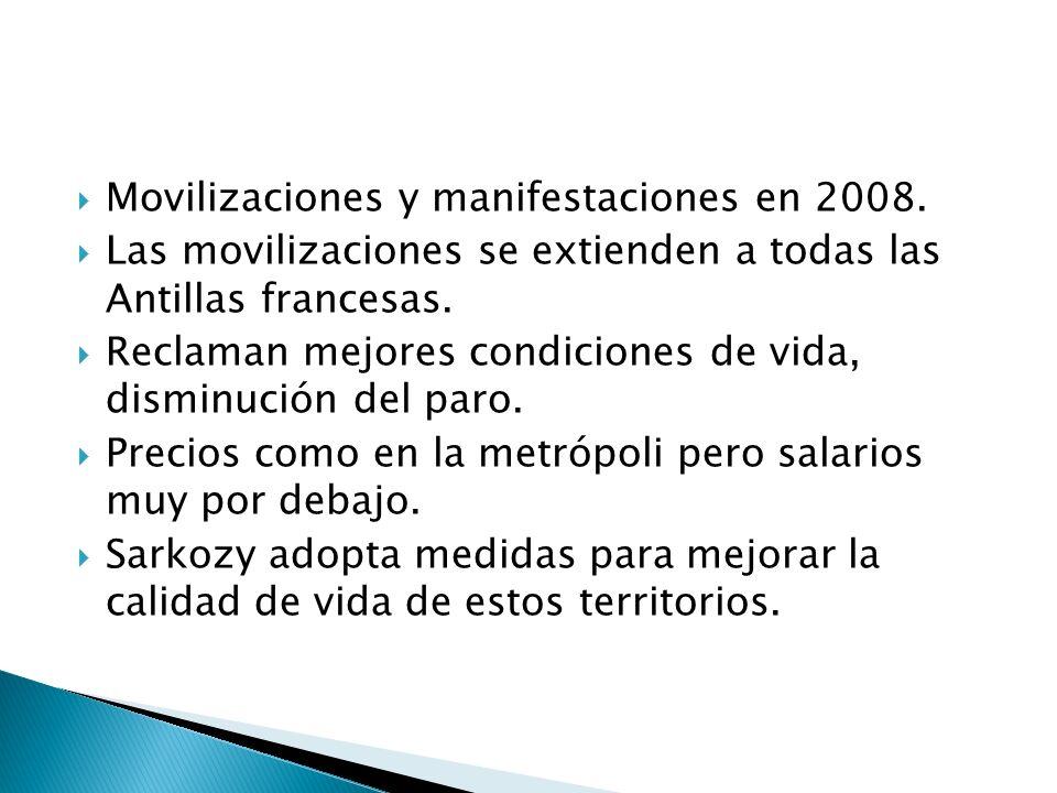 Movilizaciones y manifestaciones en 2008.