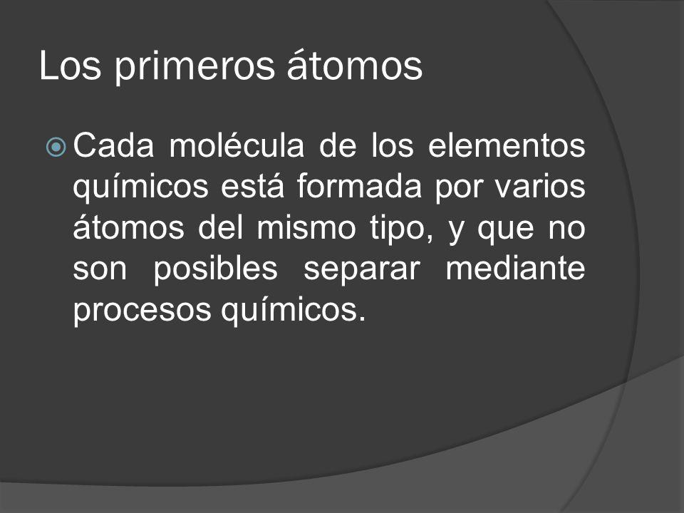Los primeros átomos