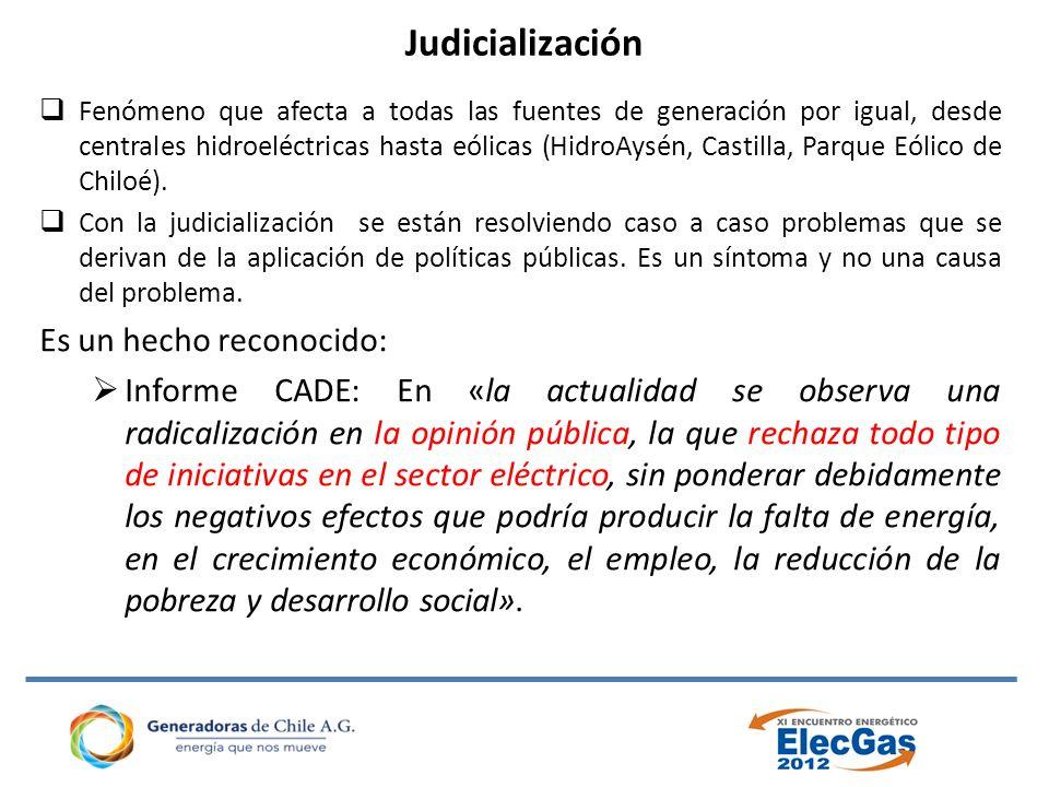 Judicialización Es un hecho reconocido: