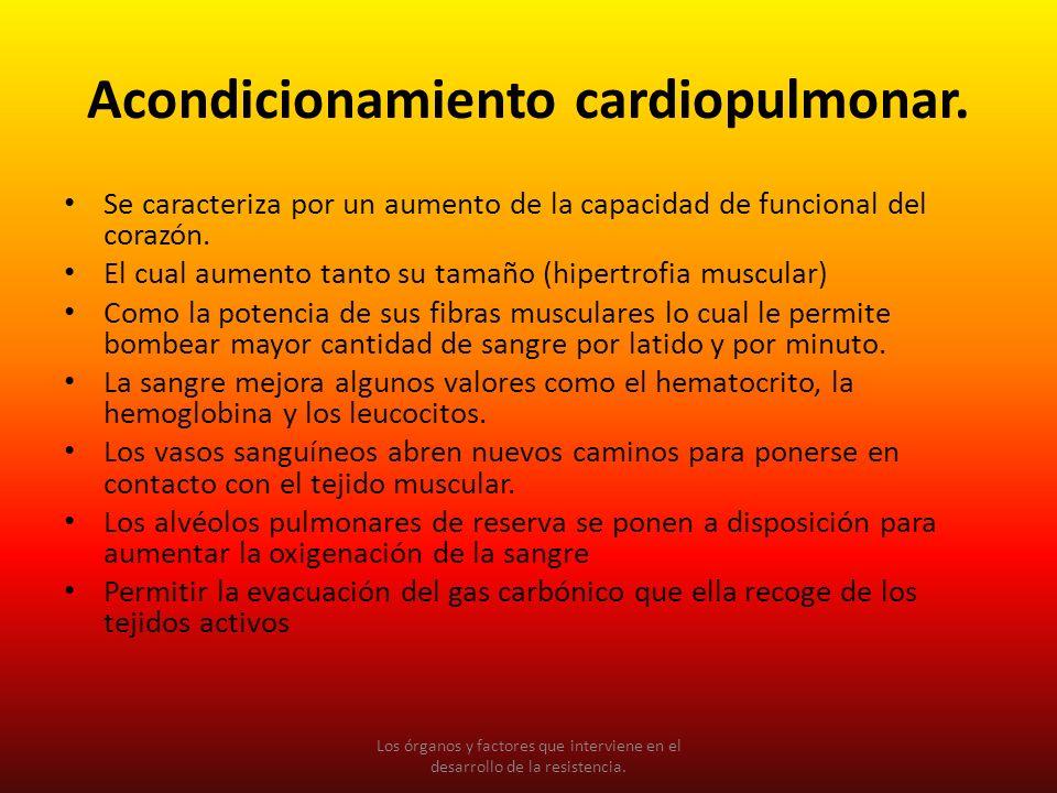 Acondicionamiento cardiopulmonar.