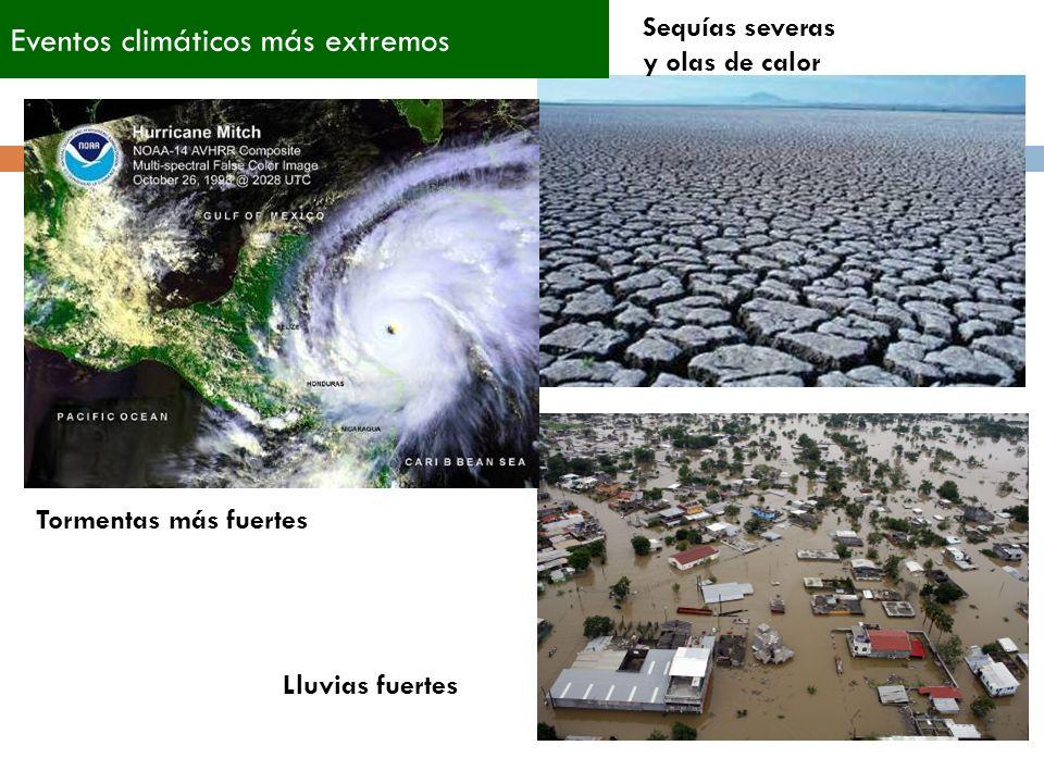Eventos climáticos más extremos