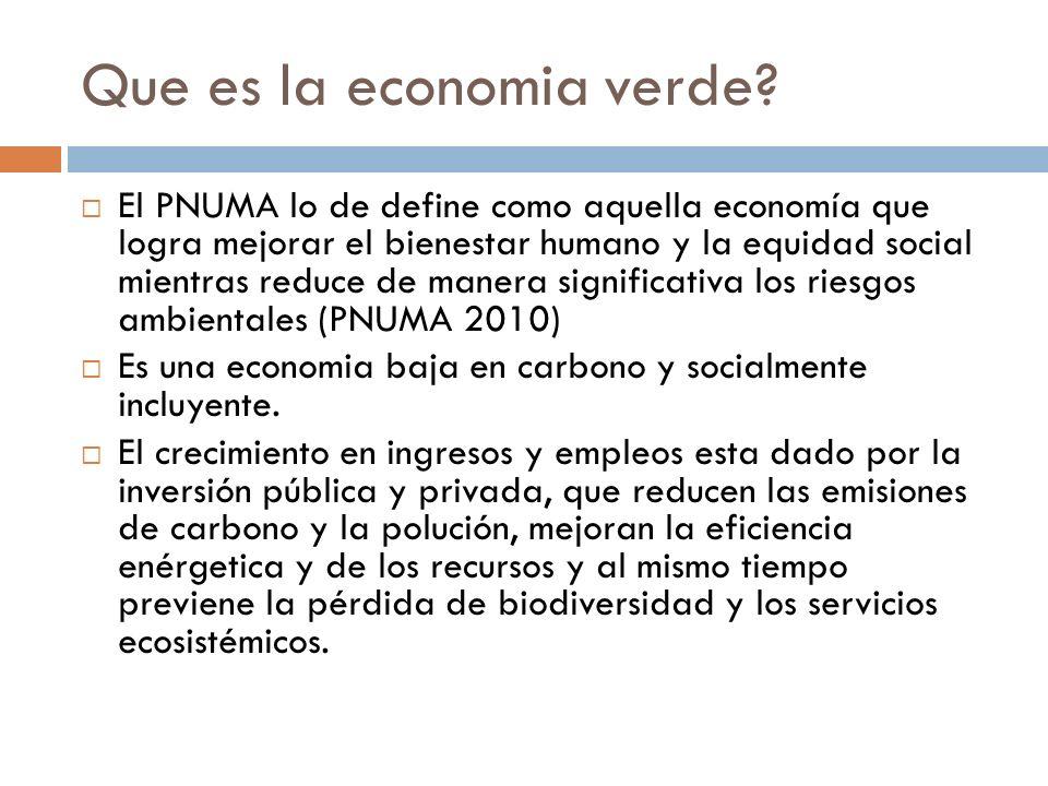 Que es la economia verde