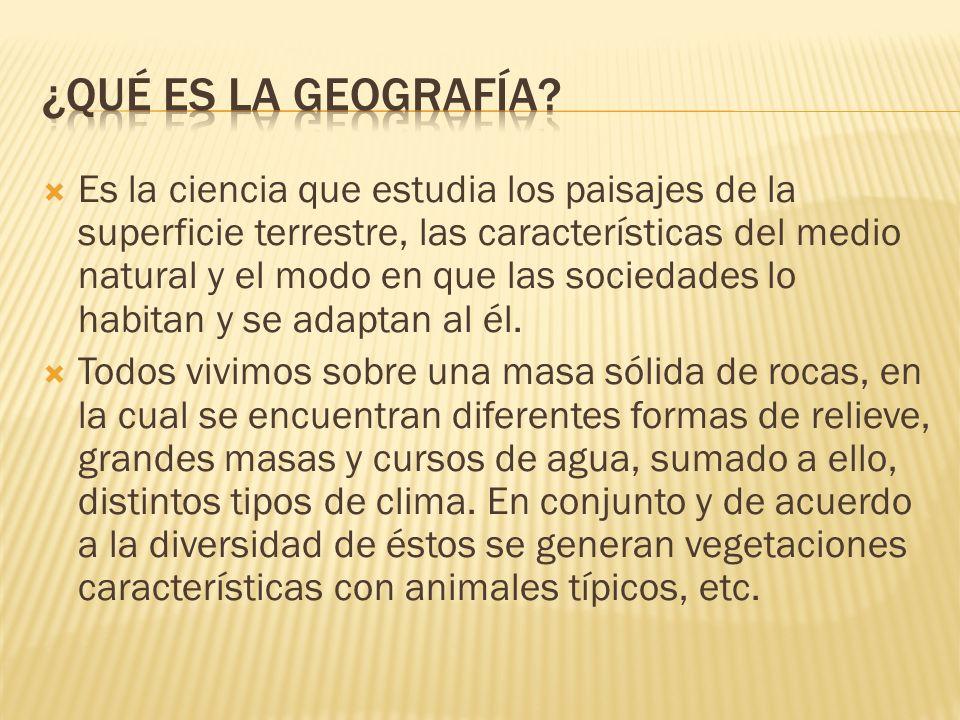 ¿Qué Es la geografía