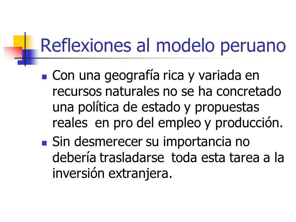 Reflexiones al modelo peruano