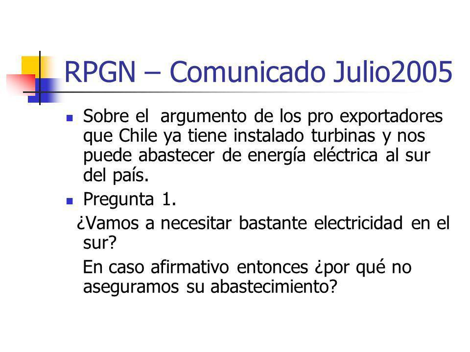 RPGN – Comunicado Julio2005