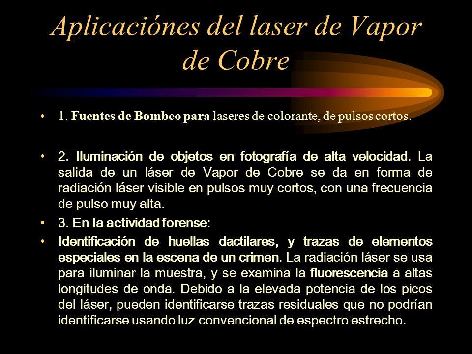 Aplicaciónes del laser de Vapor de Cobre