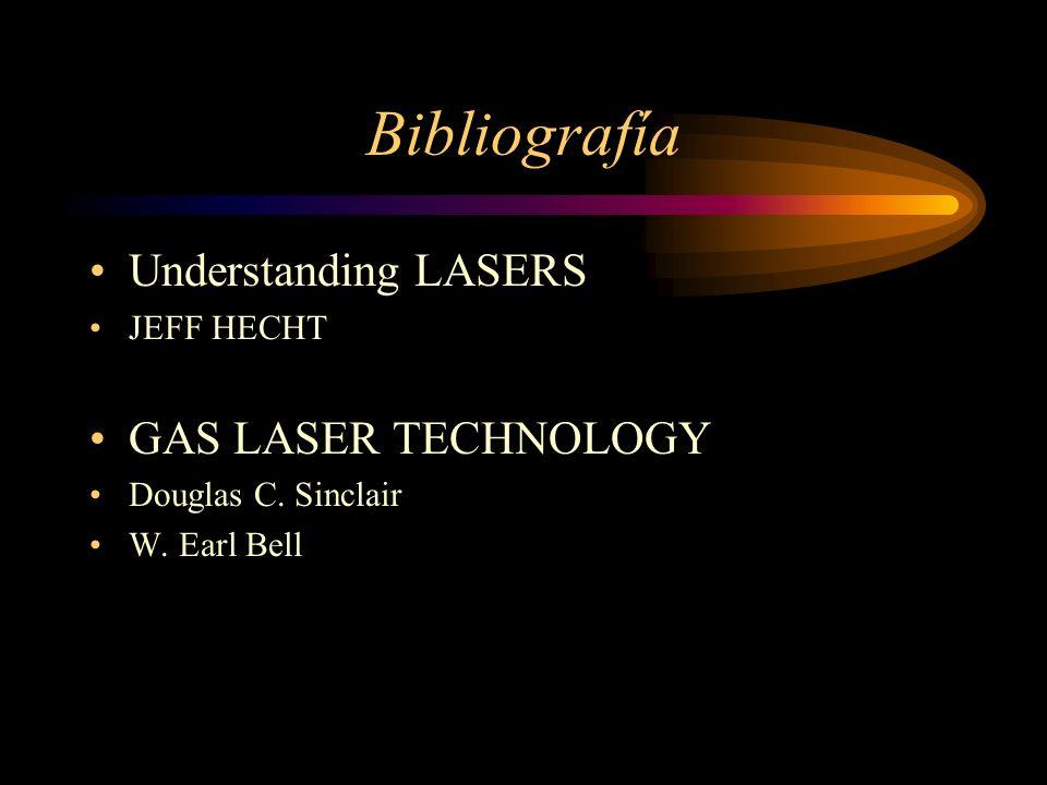 Bibliografía Understanding LASERS GAS LASER TECHNOLOGY JEFF HECHT
