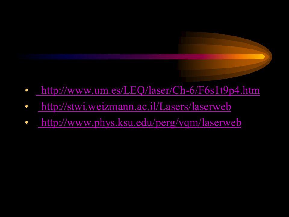 http://www.um.es/LEQ/laser/Ch-6/F6s1t9p4.htm http://stwi.weizmann.ac.il/Lasers/laserweb.