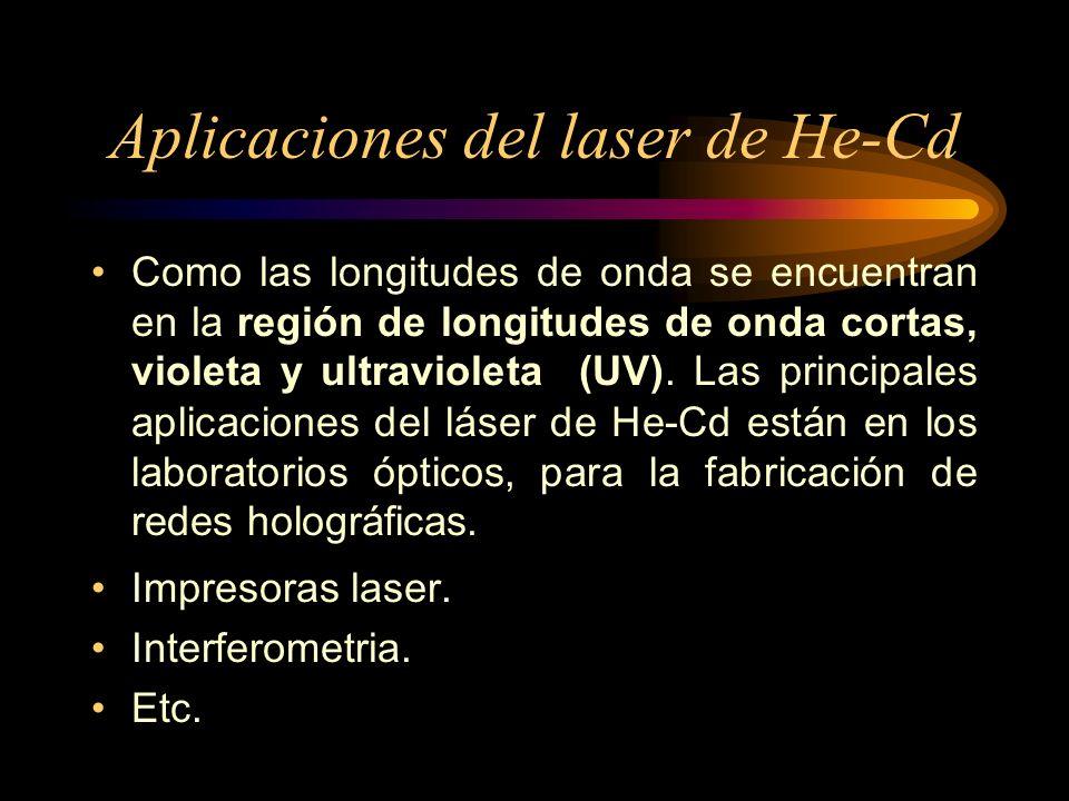 Aplicaciones del laser de He-Cd