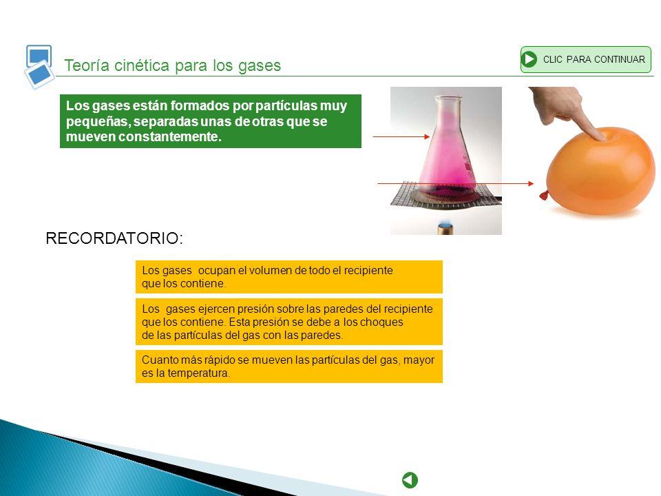 Teoría cinética para los gases