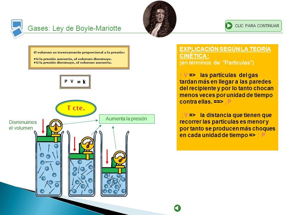 Gases: Ley de Boyle-Mariotte