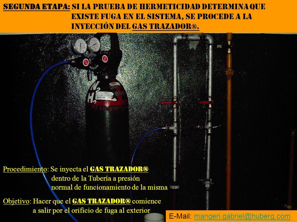 SEGUNDA ETAPA: SI LA PRUEBA DE HERMETICIDAD DETERMINA QUE