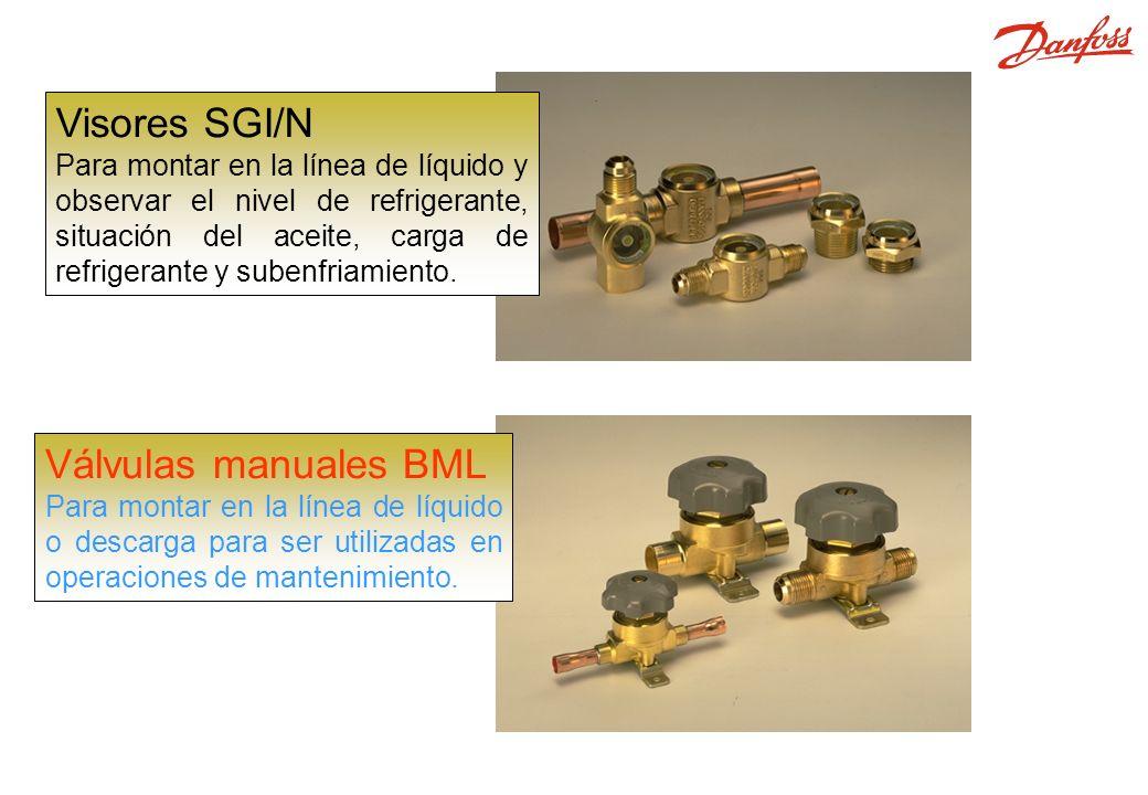 SGI, SGN, BML Visores SGI/N Válvulas manuales BML