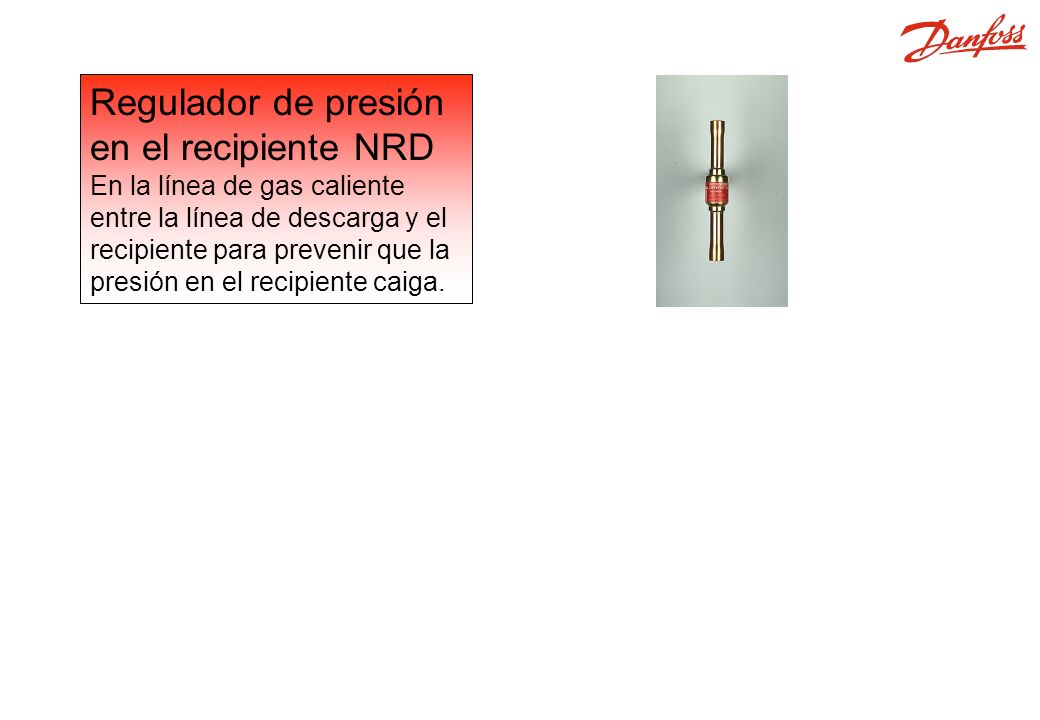 NRD Regulador de presión en el recipiente NRD