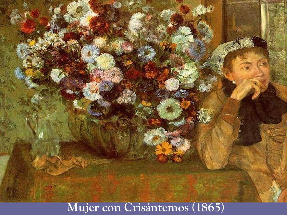 Mujer con Crisántemos (1865)