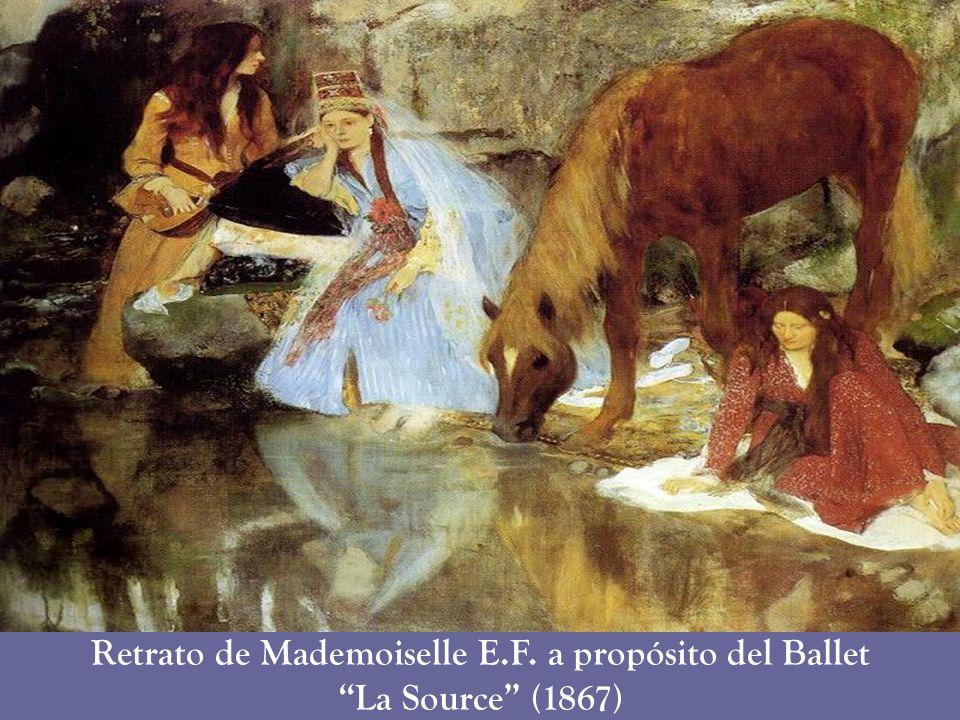 Retrato de Mademoiselle E.F. a propósito del Ballet La Source (1867)