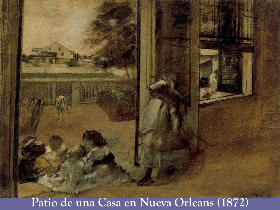 Patio de una Casa en Nueva Orleans (1872)