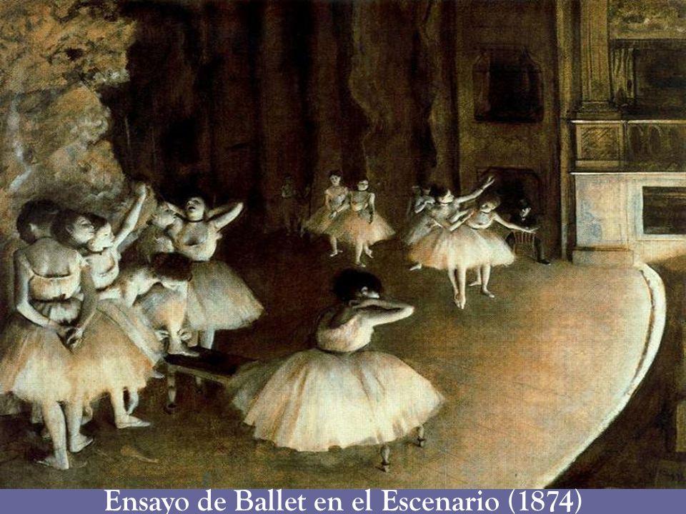 Ensayo de Ballet en el Escenario (1874)