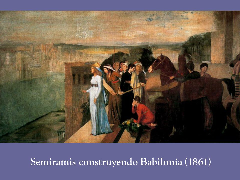 Semiramis construyendo Babilonía (1861)