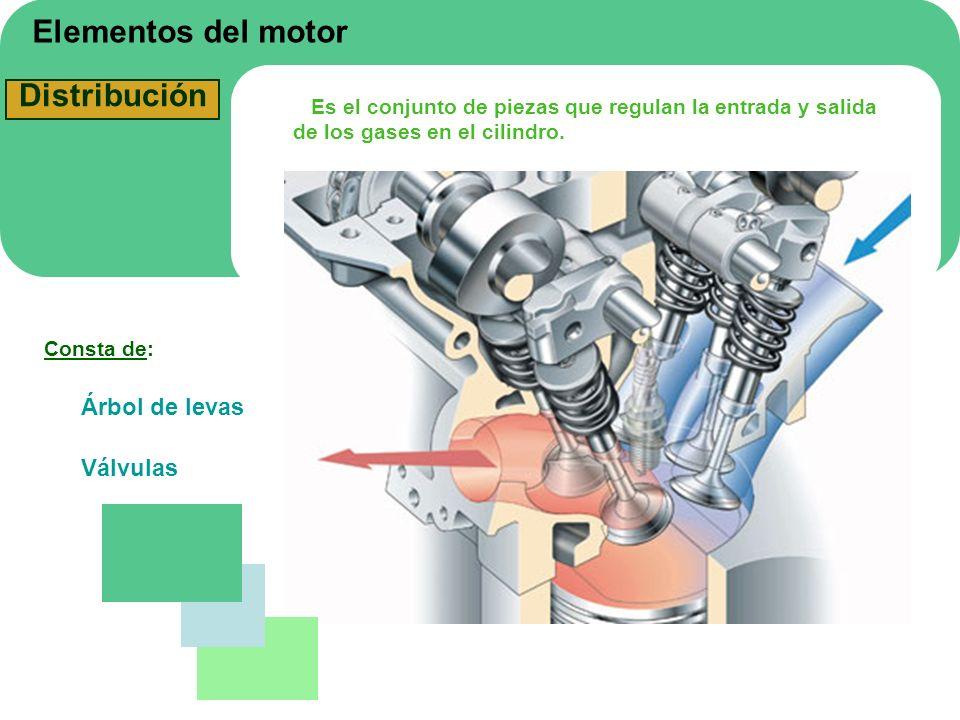 Elementos del motor Distribución Árbol de levas Válvulas