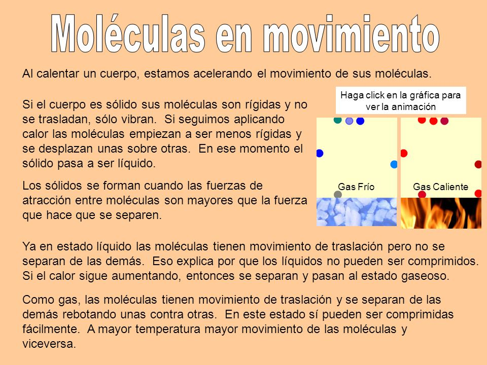 Moléculas en movimiento