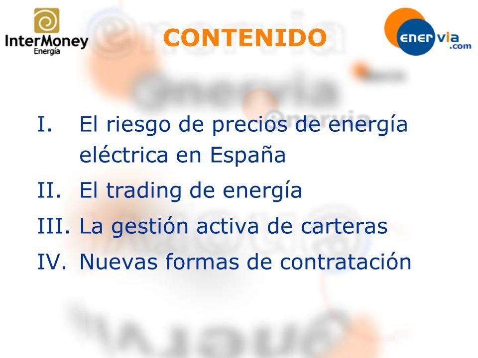 CONTENIDO El riesgo de precios de energía eléctrica en España