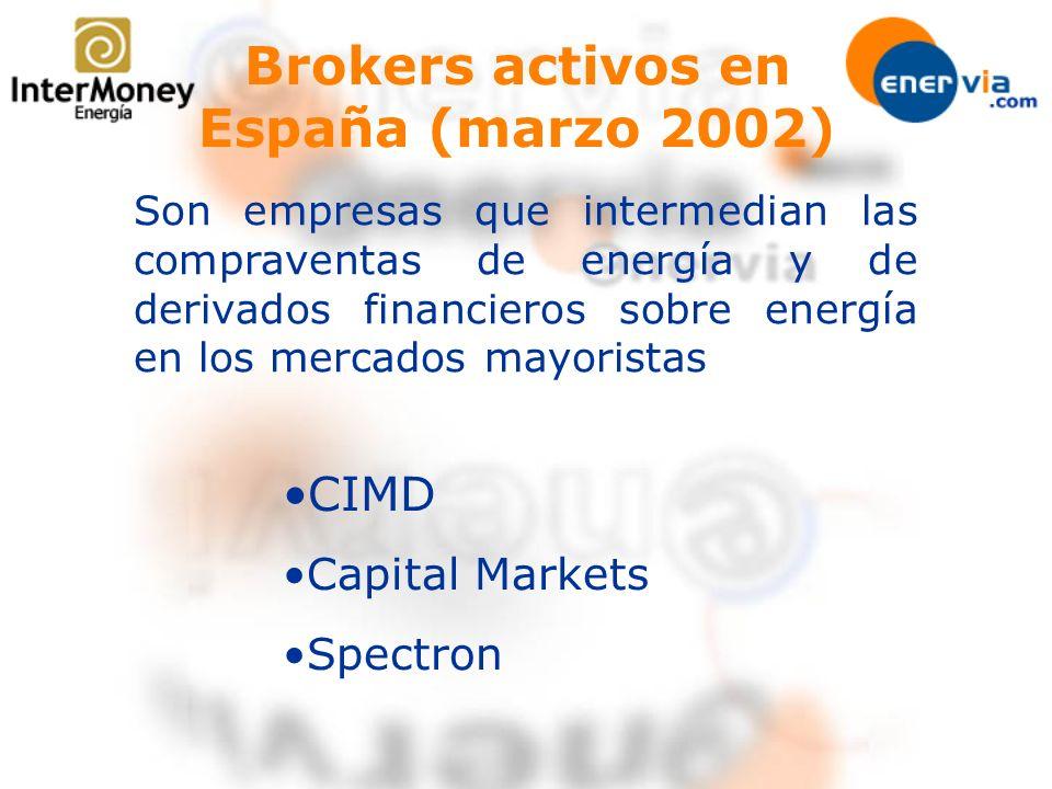 Brokers activos en España (marzo 2002)