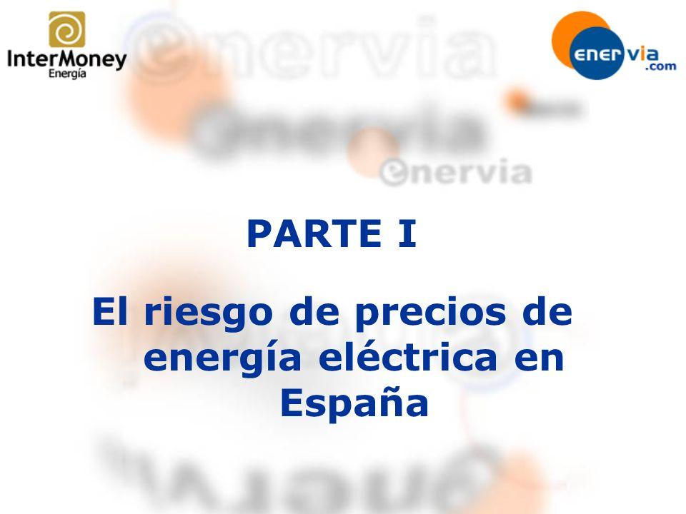 El riesgo de precios de energía eléctrica en España