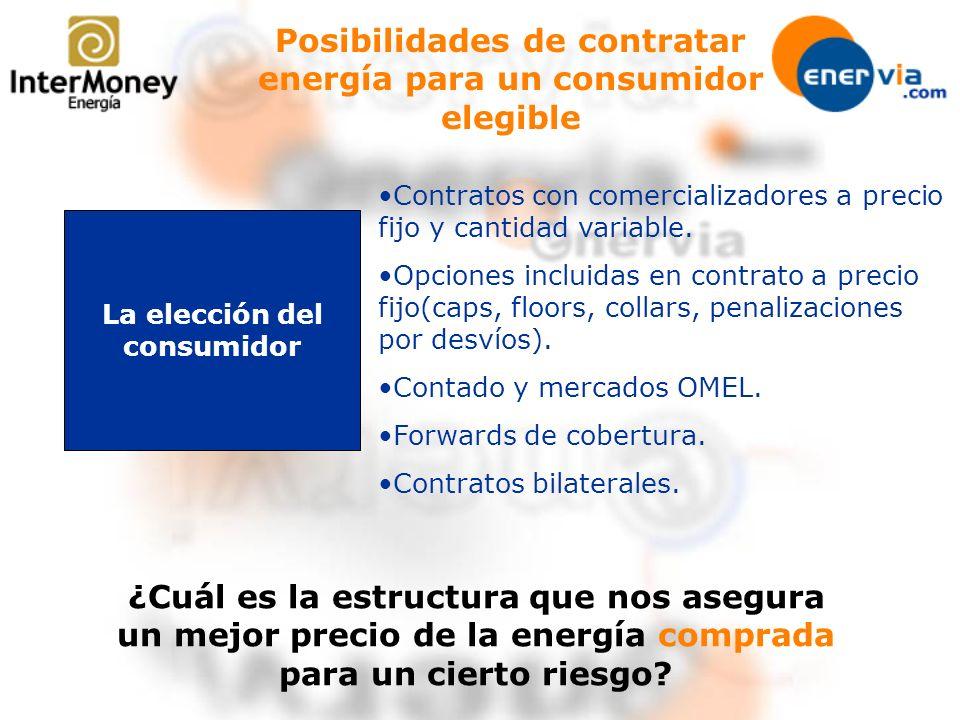Posibilidades de contratar energía para un consumidor elegible