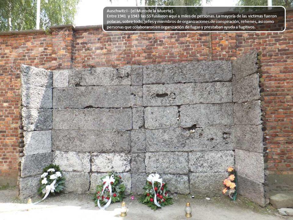 Auschwitz I - (el Muro de la Muerte).