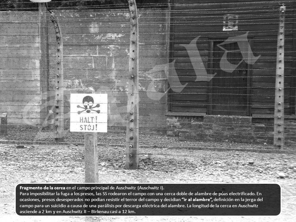 Fragmento de la cerca en el campo principal de Auschwitz (Auschwitz I).