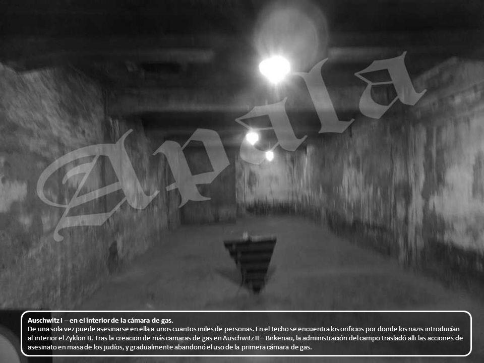 Auschwitz I – en el interior de la cámara de gas.