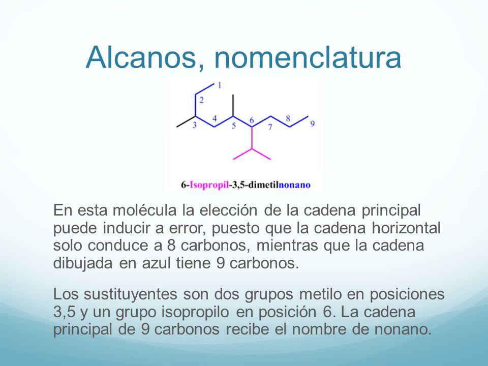 Alcanos, nomenclatura