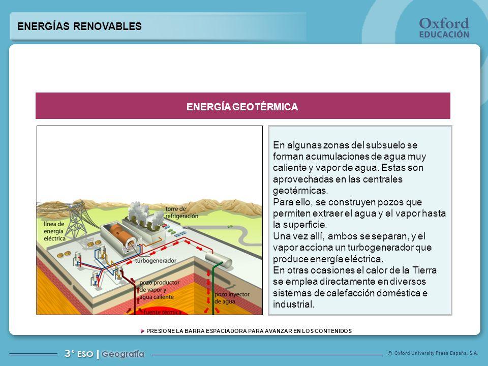 ENERGÍAS RENOVABLES ENERGÍA GEOTÉRMICA