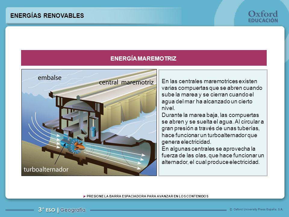 ENERGÍAS RENOVABLES ENERGÍA MAREMOTRIZ