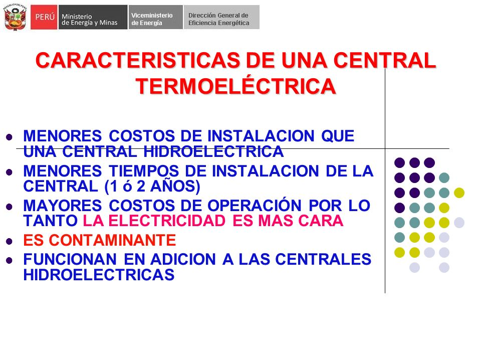 CARACTERISTICAS DE UNA CENTRAL TERMOELÉCTRICA