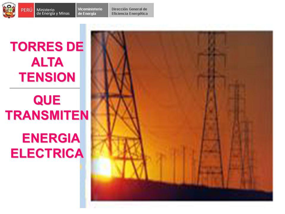 TORRES DE ALTA TENSION QUE TRANSMITEN ENERGIA ELECTRICA