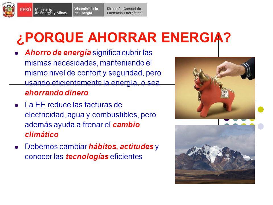 ¿PORQUE AHORRAR ENERGIA