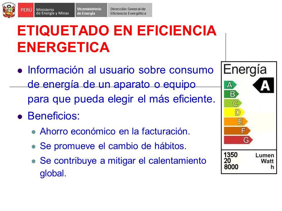 ETIQUETADO EN EFICIENCIA ENERGETICA